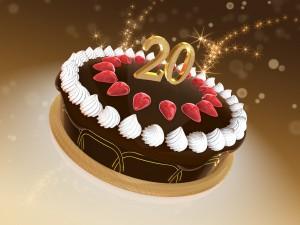 Torte 20 Jubiläum